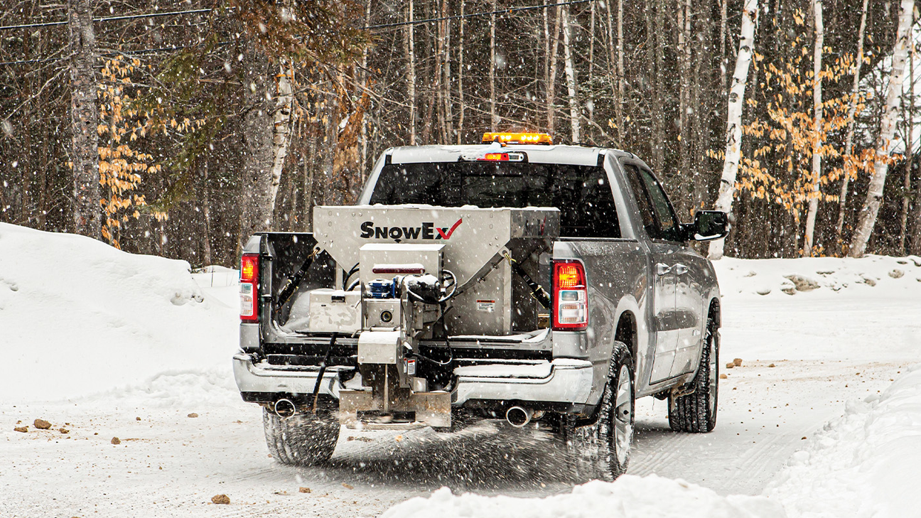 SnowEx HELIXX Light-Duty Trucks and UTV Stainless Steel Hoppers